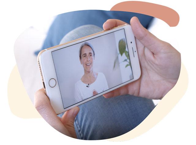 Vídeo de un curso de yoga con Inma Campos